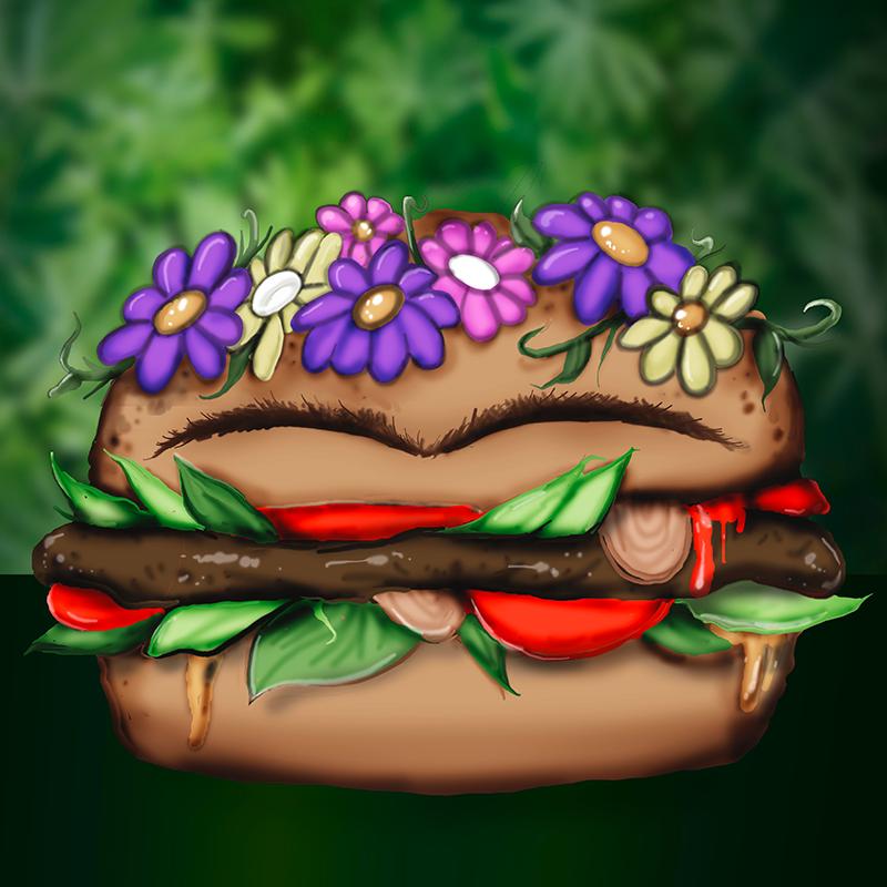 Frida Kahlo Burger